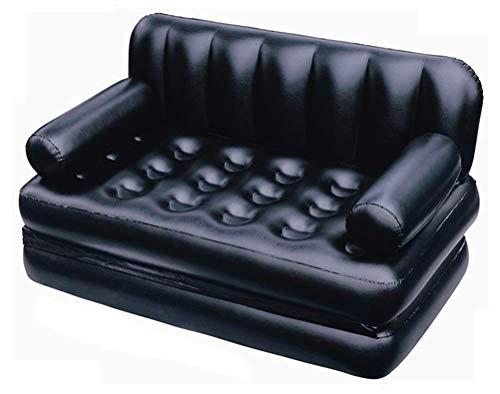 Gpzj Aufblasbare Liege Luft Sofa , Aufblasbare Deluxe Liege, 5 In 1 Aufblasbare Multifunktions-Doppel-Luftbett Sofa Stuhl Couch Liege Matratze für tragbares Reisen, Camping, Pool und Strand