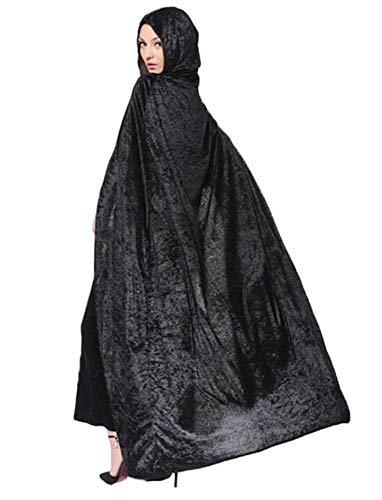 Huateng Cómodo Manto de Halloween Traje de Navidad COS Muerte Manto largo Mago Bruja Princesa Princesa Capa Capa