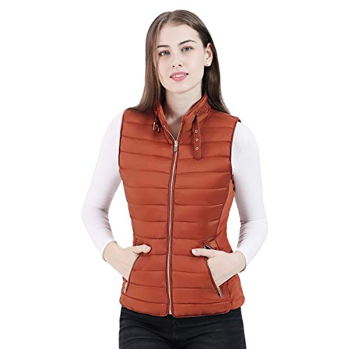Women's Faux Fur Lined Puffer Vest, Thicken Quilted Gilet, Warm Bubble Vest for Winter