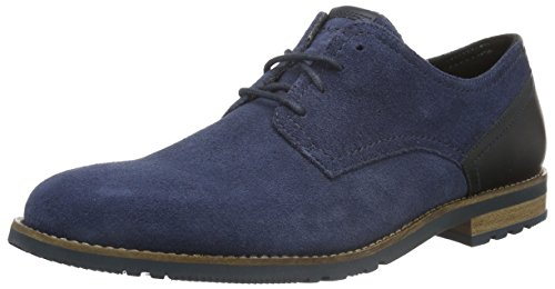 Rockport Herren LEDGE HILL TOO PLAIN TOE BLUCHER Derby, Blau (VINTAGE INDIGO), 42 EU