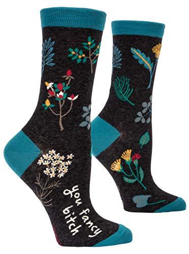 Blue Q Women s Crew Socks , You Fancy B---h, Women s Shoe Size 5-10