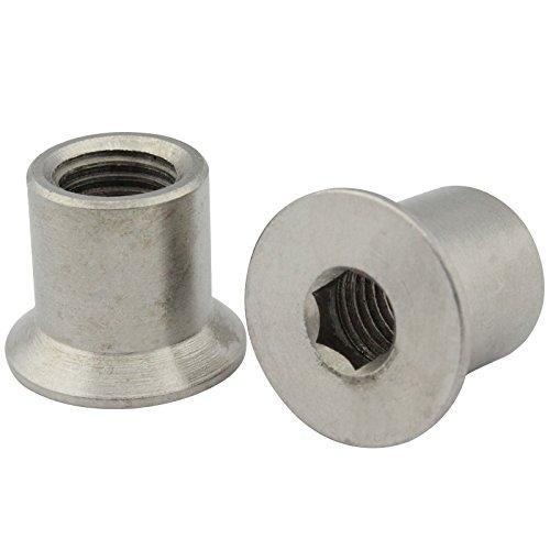 Hülsenmuttern mit Senkkopf und Innensechskant (ISK) - Antrieb - M5x15 - (2 Stück) - aus rostfreiem Edelstahl A1 (VA) - NIRO - SC9062 | SC-Normteile®