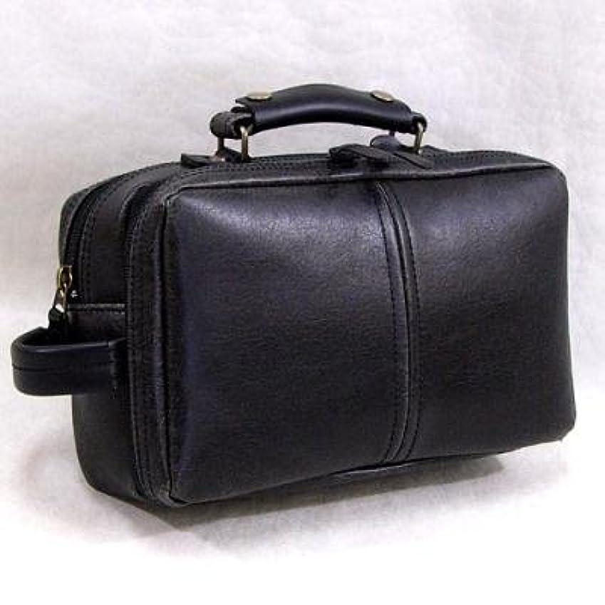 リングレット砂のエゴマニアかばん セカンドバッグ メンズ 日本製 人気 本革付属 レトロ手付セカンドバッグ ブラック(黒)