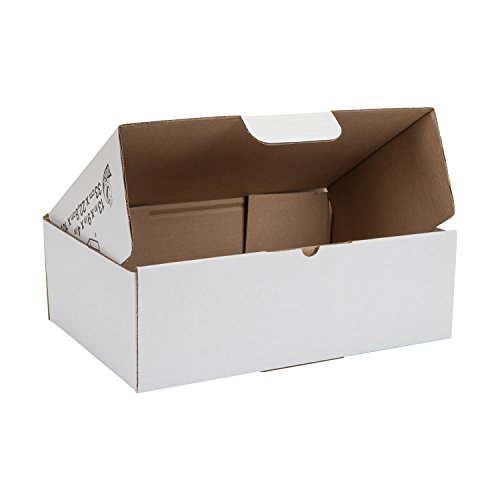 Duck Brand Self-Locking Mailing Boxes, Catalog Size, 13' x 9' x 4', White, 25-Pack (1147639)