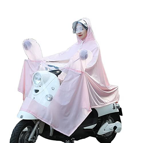 Poncho Bicicleta Capa Lluvia Bici Impermeable,Chubasquero Ciclismo Unisex Capucha Moto.Manga De Espejo Perspectiva Doble Big Brim Perspectiva Cazar Aire Libre Acampar Senderismo, Azul, 4XL