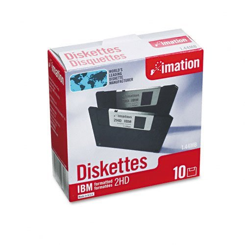 "imation Products - imation - 3.5"" Diskettes, IBM-Formatted, DS/HD, 10/Box - Sold As 1 Box - Cost effective. - Low torque reduces diskette drive wear. - Antistatic design. - Formatted. -"