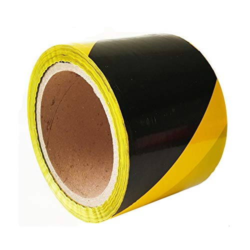 76mmx100m Absperrband Flatterband Warnband Sperrband Signalband gelb schwarz