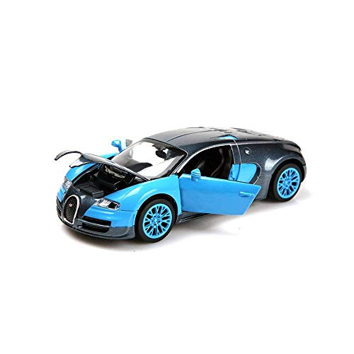 ZHMY 1:32 Bugatti Veyron Alloy Diecast car Model Collection Light&Sound Blue