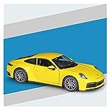 Juguetes Coches 1:24 para por-sche para 911 Carrera 4S Metal Diecast Modelo De Coche De Aleación De Juguete Coche Deportivo Modelo De Coche Regalos para Niños (Color : Amarillo)
