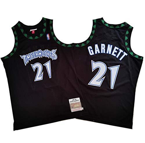 BCGG® # 21 Kevin Garnett Fans Basketball Trikots, Timberwolves 97 Retro-Version Mesh Weste T-Shirt Präzisionsstickerei Top Memorial Edition Boys-A_XXL