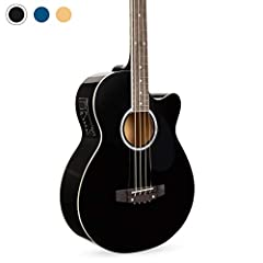 ACOUSTIC-ELECTRIC BASS: Equipped with a 4-band EQ-7545R guitar preamp to produce high-quality sound for beginners and pros alike RICH, RESONANT SOUND: The wood composition creates a beautiful sound, great for unplugged jam sessions or performances 4-...
