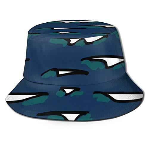 Meiya, cappello unisex da pescatore Techno LII Waves, estivo e pieghevole, per viaggi, spiaggia