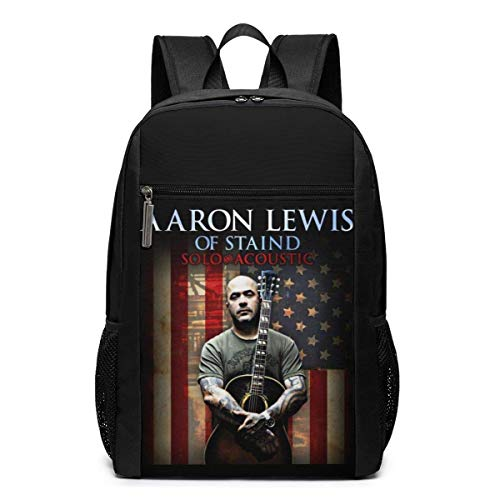 Lawenp Aaron Lewis Flag Backpack 17 Inch Laptop Bags College School Backpack Casual Daypack for Travel