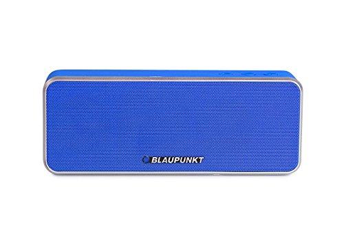 BLAUPUNKT BT 6 BL Bluetooth Lautsprecher mit Mikrofon, Freisprecheinrichtung, eingebauter Akku für MP3 blau
