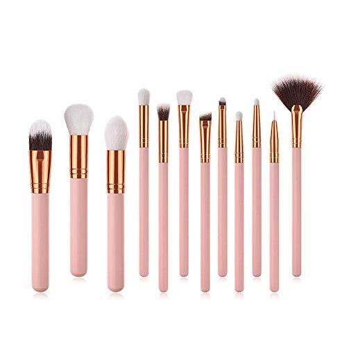 Momangel Professionnel 12pcs Set/Kit Fond de ventilateur en forme de fard à Paupières Cosmétique Brush Beauté Maquillage Brosse Makeup Brushes Small Fan Shape