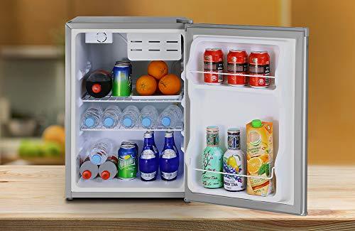 41IX8U86GnL - Inventor Mini Nevera A+ con Compresor, 66 litros de Capacidad, Color Plata, Silenciosa e ideal para hoteles, estudiantes, dormitorios y pequeños hogares