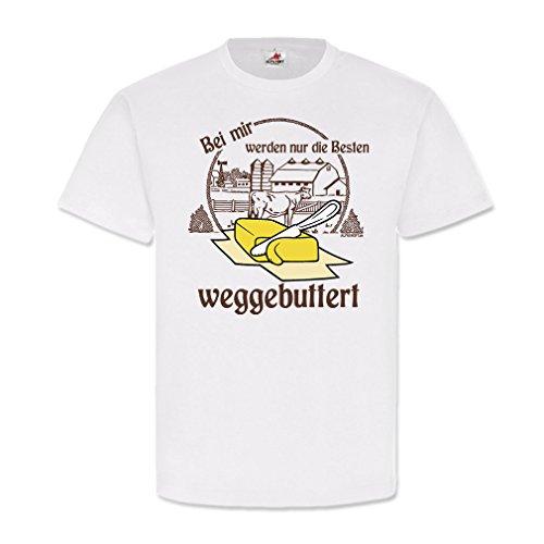 Copytec Weggebuttert wegbuttern Fun Spaß Männer Spruch Butter Liebe Single Kult #21778, Größe:L, Farbe:Weiß