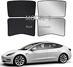 Tesla Model 3 Sunshade Roof Window Skylights Sun Shade with Uv/Heat Insulation Cover for Rear Glasses Tesla Model 3 2016-2020 Roof Black…