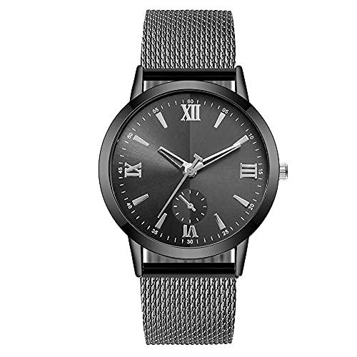 ZRSJ Männer Watch wasserdichte Militärische Männer Datum Leinwandband Edelstahl Sport Quarz-Armbanduhr(h)