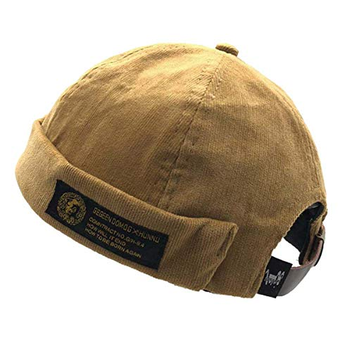Clape Retro Strap-Back Cap Watch Cap Commando Work Beanie Corduroy Docker Leon Brimless Hat Rolled Cuff Harbour Hat