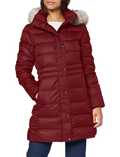 Tommy Hilfiger Damen Th ESS Tyra Down Coat with Fur Jacke, Deep Rouge, S