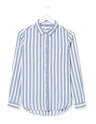 Springfield 1.T.Ap.Camisa Raya Vert H-C/10 Blusa, Azul (Navy 10), 40 (Tamaño del Fabricante: 40) para Mujer