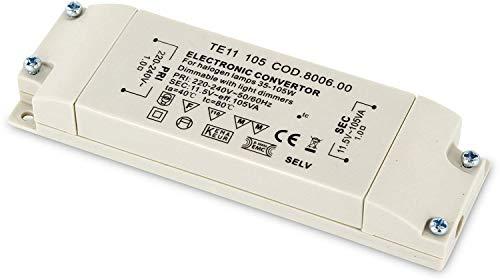 Transformador electrónico para bombillas halógenas (230 V a 12 V, 35 W a 105 W)