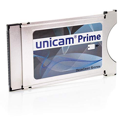 Unicam Prime CI Modul I Common Interface Karte mit DeltaCrypt-Verschlüsselung 3.0 für den Empfang verschlüsselter Sender I DVB CI-konforme PCMCIA CI-CAM für Smart Cards TV (Einzeln)