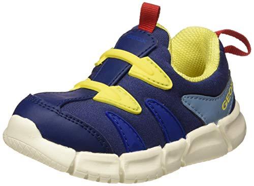 Geox Baby Jungen B FLEXYPER BOY F Sneaker Blau (Navy/Yellow C0657), 23 EU