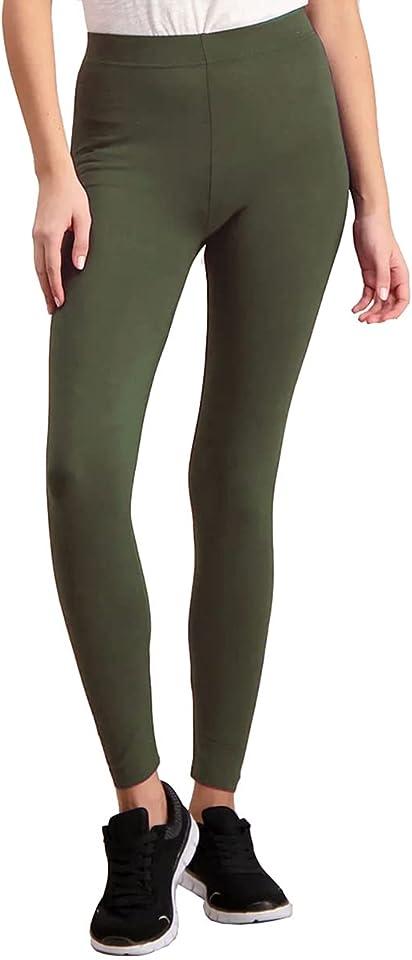 Nahtlose Leggings aus Bio Baumwolle, Blickdichte High Waist Leggins Hose für Alltag & Sport