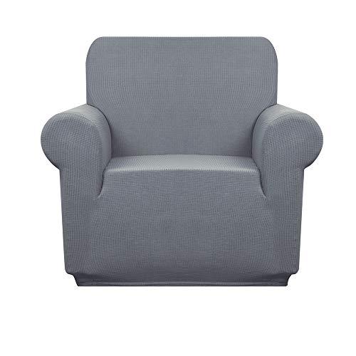 Granbest Premium Wasserabweisende Sofabezüge 3-Sitzer High Stretch 1 Stück Couchbezug für Hunde Universal Sofa Schonbezug Anti-Rutsch Möbelschutz Jacquard Spandex Stoff, hellgrau, 1 Seater