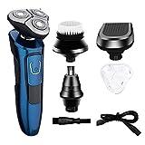 Máquina de afeitar recargable USB para hombre 4 en 1 Máquina de afeitar IPX7...