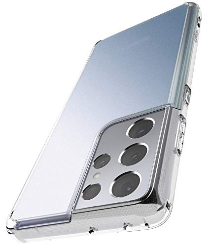 Ringke Fusion Compatible with Samsung Galaxy S21 Ultra Case Frost Satin Textured Back - Matte Clear