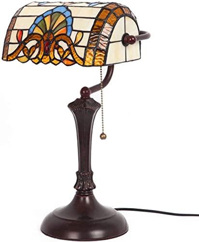 MUZIDP Lámpara de Vidrio de la lámpara de Mesa de tiffanía barroca Lámpara de mesita de Noche de Estilo Antiguo de Estilo Antiguo, Utilizado para Sala de Estar y Dormitorio.