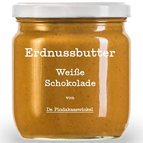 Die Leckerste Erdnussbutter in Acht Unwiderstehlichen Geschmäckern   Nachhaltige & 100% Natürliche Peanut Butter 420ml (Weiße Schokolade). 3 Töpfe