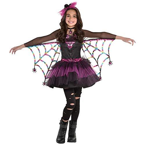 amscan Girls Miss Wicked Web Spider Costume - Medium (8‑10), Multicolor
