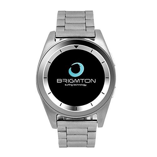 Brigmton BWATCH-BT6 1.2' IPS Plata Reloj Inteligente - Relojes Inteligentes (3,05 cm (1.2'), IPS, Pantalla táctil, 0,128 GB, 55 g, Plata)