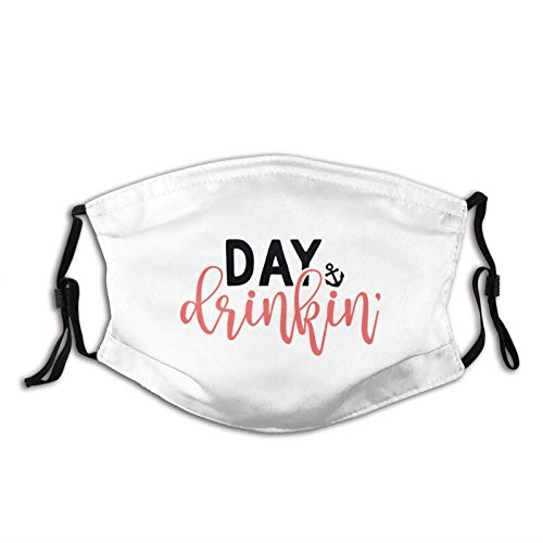 Adjustable Face Mask Day Drinkin†Masks Replaceable Filter Balaclavas-Black-OneSize