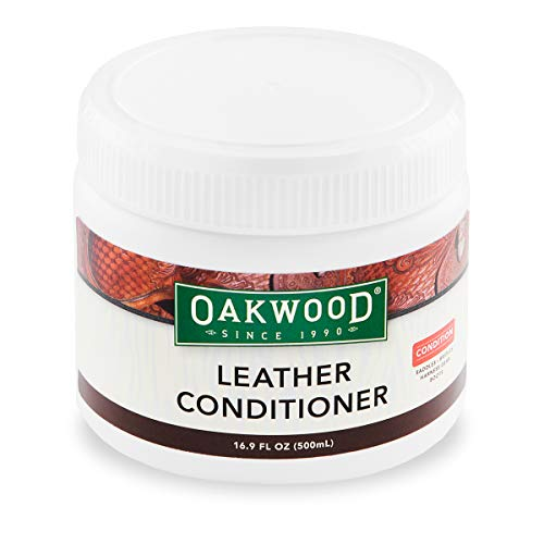 Oakwood Leather Conditioner Jar – 16.9 fl oz – Preserve, Soften, Repel Water & Protect Your Saddlery & Leather Gear. A Formulation of Waxes & Oils Including Lanolin, Beeswax, Tea Tree & Eucalyptus.