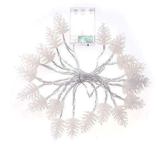 Beetest Guirlandes Lumineuses, 118inch 20 LED à Piles de Pomme de pin Forme des lumières de la chaîne pour la Maison Halloween Arbre de fête de Noël Cour décoration Accessoires, Multicolores