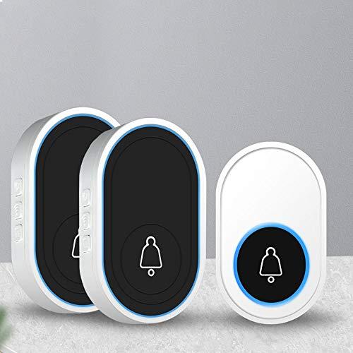 Guoc Timbre inalámbrico para el hogar,Voz Inteligente,Aviso electrónico,Puerta Ling One Drag,Dos buscapersonas de Ultra Larga Distancia