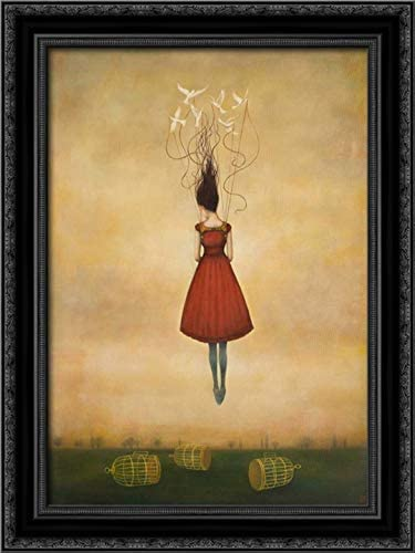 Huynh Duy 19x24 excellence Black Ornate Framed Super-cheap Canvas Art Titled: Print Su