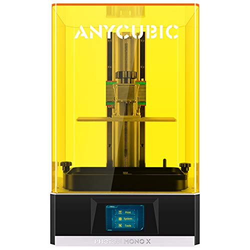 ANYCUBIC Impresora 3D Photon Mono X, UV LCD Resin Impresora con pantalla monocromática 4K e impresión rápida en 3 veces, mando a distancia WiFi, tamaño de impresión 192 x 120 x 250 mm
