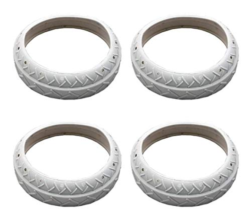 4) NEW Pentair LLC1PM Pool Spa White Tire Replacements Automatic Cleaner Legend