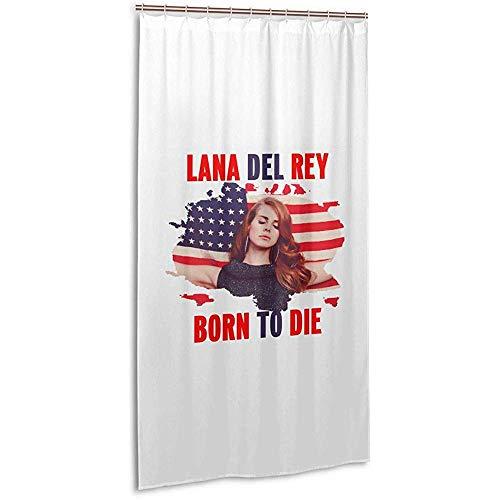 JobFine Shower Curtain 36X72Zoll Duschvorhang-Lana Del Rey Music Band Badvorhang Aus Polyester Mit Kunststoffhaken Maschinenwaschbar