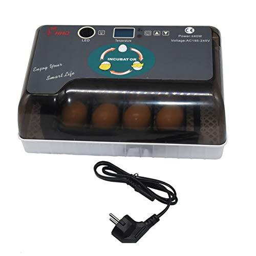 Dispositivo de calefacción para mascotas. 1 juego automático digital de 12 huevos incubadora Hatcher Incubadoras prácticos gran capacidad de pollo aves de corral huevos de codorniz uso en el hogar