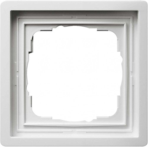 Gira Rahmen 0211112 1fach Fläche reinweiss, Weiß