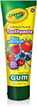 GUM - 4051R Crayola Anti-Cavity Fluoride Kids Toothpaste, Fruit Explosion, 4.2 Ounce Tube