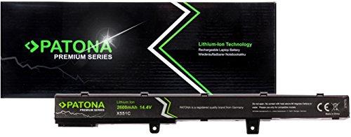 PATONA Premium Batería de Laptop (2600mAh) Compatible con ASUS A551C D550C F451C F551C F551C P451C P551C R411C R512C X451C D450C X451C X551C (Samsung Cells Inside)