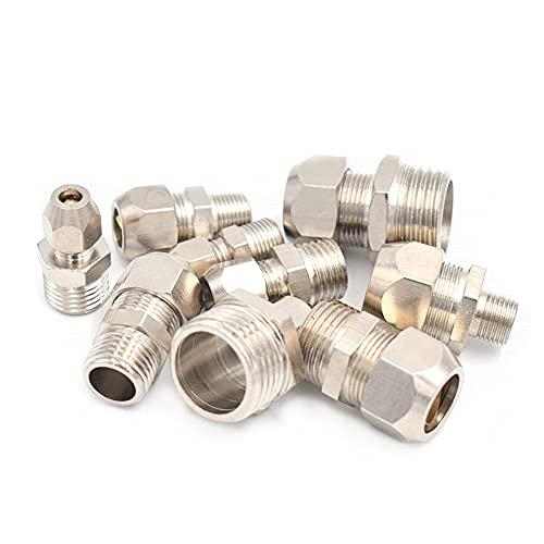 Doamt Zmaoyun-Tubos de latón 1/8'1/4' 3/8'1/2' BSP Husmero Macho 4 6 8 10 12 14 16mm OD Tubo Tubo Tubo Tubo Conector de Ajuste de la compresión, Material de latón Duradero